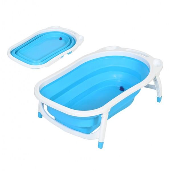 vasca da bagno pieghevole azzurro per bambini