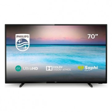 "Smart TV Philips 70PUS6504 70"" 4K Ultra HD LED WiFi Nero"