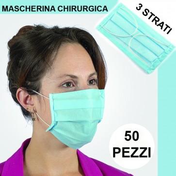 Mascherina di Protezione Respiratoria Pacco da 50 Unità Mascherine Antipolvere Virus Germi