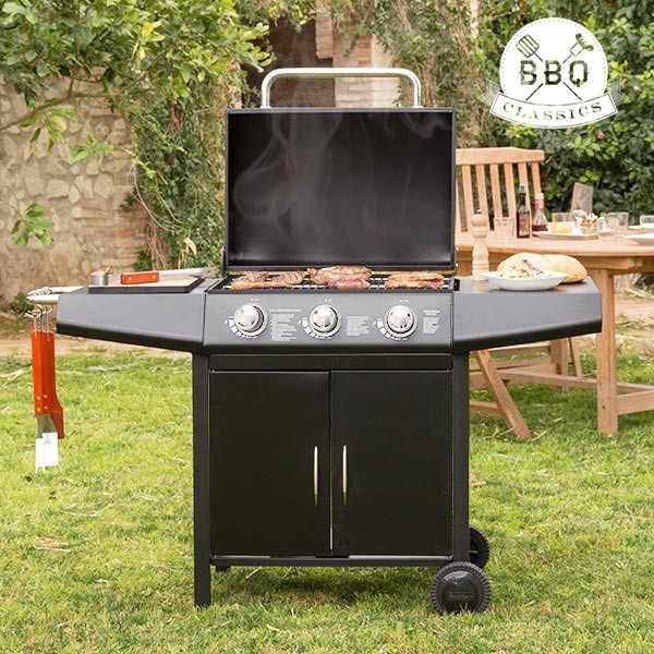 Barbecue a Gas con Grill Vaggan 1857K BBQ 3 Fornelli Terrazzo ...