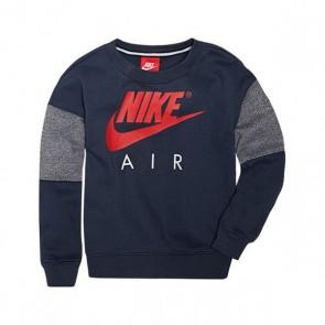 Felpa senza Cappuccio Bambino Nike 376S-U2Y Blu marino Rosso