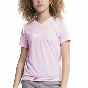 Maglia a Maniche Corte Bambino Nike Cotone Rosa