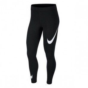 Leggings Sportivo da Donna Nike NSW LEGASEE LGGNG SWOOSH Nero