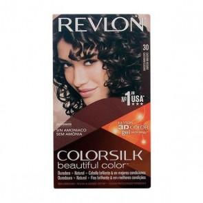 Tintura Senza Ammoniaca Colorsilk Revlon Castano scuro