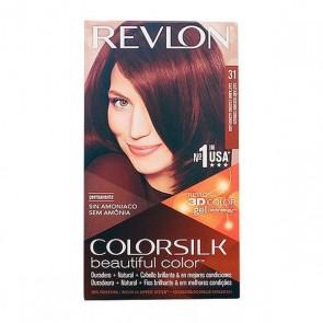 Tintura Senza Ammoniaca Colorsilk Revlon Castano scuro rame