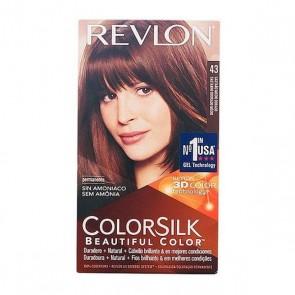 Tintura Senza Ammoniaca Colorsilk Revlon Castano dorato
