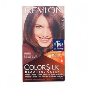 Tintura Senza Ammoniaca Colorsilk Revlon Castano chiaro