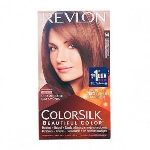 Tintura Senza Ammoniaca Colorsilk Revlon Castano chiaro dorato