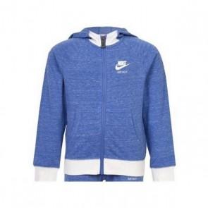 Felpa con Cappuccio Bambino Nike 842-B9A Azzurro Bianco