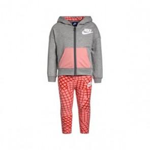 Tuta da Bambini Nike 923-A4E Rosa Grigio