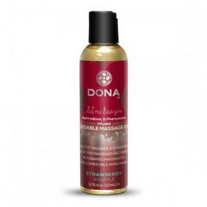 Olio per Massaggi Commestibile Soufflé alla Fragola 125 Dona 5390