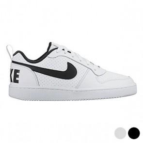 Scarpe Sportive per Bambini Nike COURT BOROUGH LOW (GS) Bianco Nero (Taglia usa)