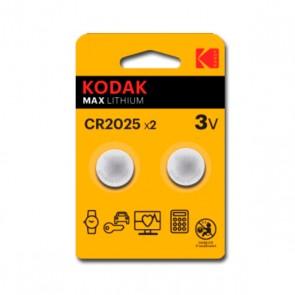 Litio CR2025 Kodak ULTRA MAX LITHIUM 3V (2 uds)
