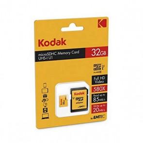 Scheda Di Memoria Micro SD con Adattatore Kodak UHS-I U1 Giallo