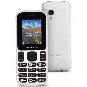 "Cellulare per anziani Thomson TLINK T12 1,77"" Bluetooth VGA FM Bianco"