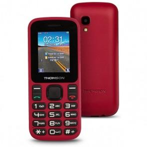"""Cellulare per anziani Thomson TLINK T12 1,77"""" Bluetooth VGA FM Rosso"""