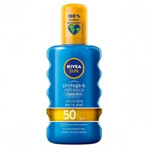 Spray Protezione Solare Protege & Refresca Nivea Spf 50 (200 ml)
