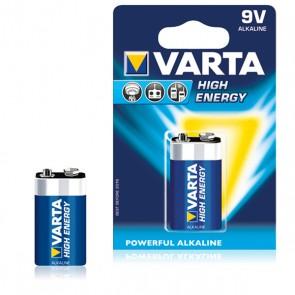 Batteria Alcalina Varta 9 V 580 mAh High Energy Azzurro