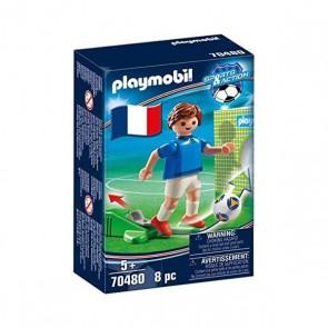 Personaggio Football Player France Playmobil 70480 (8 pcs)