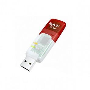 Scheda di Rete Wi-Fi Fritz! N300 5 GHz 300 Mbps USB Trasparente Rosso