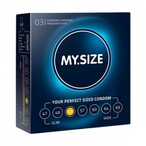 Preservativi in Lattice Naturale Misura 53 3 pezzi MY.SIZE 20138