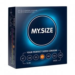 Preservativi in Lattice Naturale Misura 57 3 pezzi MY.SIZE 20145