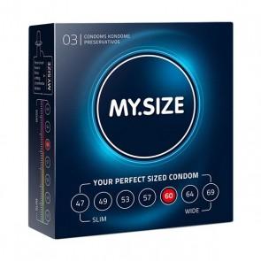 Preservativi in Lattice Naturale Misura 60 3 pezzi MY.SIZE 20152