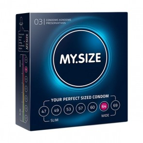 Preservativi in Lattice Naturale Misura 64 3 pezzi MY.SIZE 20169