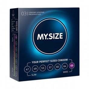 Preservativi in Lattice Naturale Misura 69 3 pezzi MY.SIZE 20183