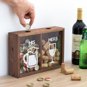 Scatola Decorativa per tappi His & Hers