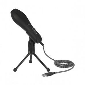 Microfono da Tavolo DELOCK 65939 USB 2.0 Nero