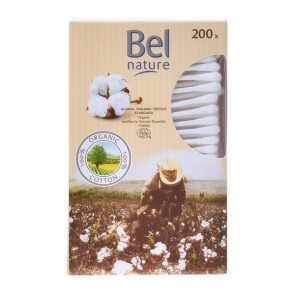 Bastoncini di Cotone Nature Bel (200 uds)