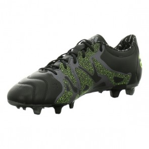 Scarpe da Calcio per Adulti Adidas X 15.2 FG/AG Leather Nero