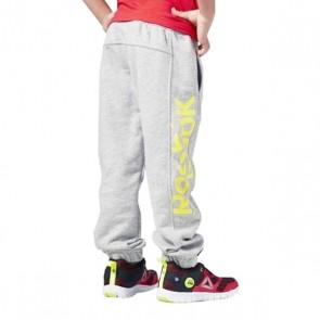 Pantalone Sportivo per Bambini Reebok B ES BL Pant Grigio Giallo