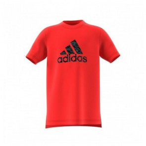 Maglia a Maniche Corte Bambino Adidas YB Prime Log TE Rosso