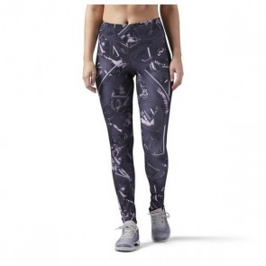 Leggings Sportivo da Donna Reebok Wor Aop Tight Wing Dim