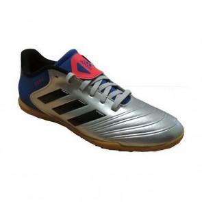 Scarpe da Calcio a 5 per Bambini Adidas Copa Tango 18.4 IN Junior Grigio Azzurro