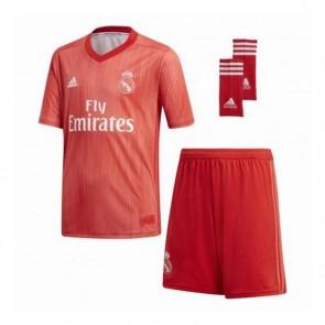 Set di Attrezzatura da Calcio per Bambini Adidas Real Madrid Rosso 18/19 (3ª) (3 Pcs)
