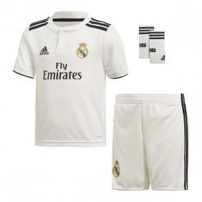 Set di Attrezzatura da Calcio per Bambini Adidas Real Madrid Bianco 18/19 (1ª) (3 Pcs)