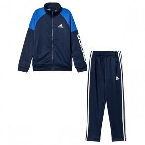 Tuta da Bambini Adidas YB Linear TS CH Azzurro