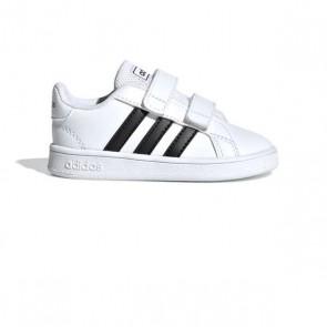 Scarpe Sportive per Bambini Adidas Grand Court I Bianco Nero