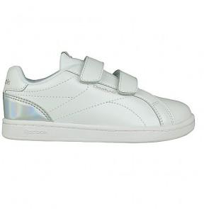 Scarpe da Tennis Casual Bambino Reebok Royal Complete Clean Velcro Bianco