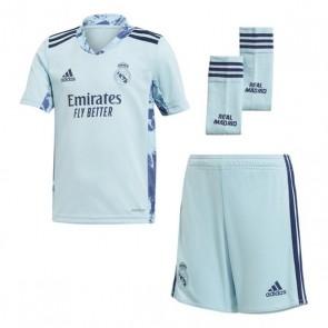 Set di Attrezzatura da Calcio per Bambini Real Madrid Adidas H GK MINI Azzurro (3 pcs)