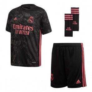 Set di Attrezzatura da Calcio per Bambini Real Madrid Adidas 3 Y KIT Nero (3 pcs)