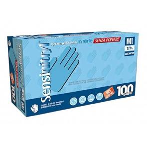 Guanti Monouso Nitrile Blu Senza Polvere 100 pezzi Taglia Small Protezione Comfort