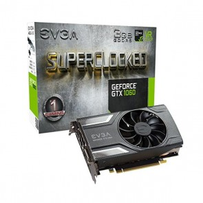 Scheda Grafica Gaming EVGA 03G-P4-6162-KR GTX 1060 SC ACX 2.0 3 GB DDR5