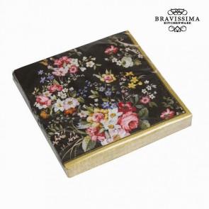 Set 20 tovaglioli bloom black - Kitchen's Deco Collezione by Bravissima Kitchen