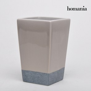 Vaso di ceramica beige e grigio by Homania
