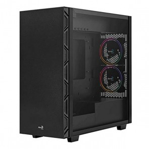 Casse Semitorre Micro ATX / Mini ITX / ATX Aerocool Flo Saturn RGB USB 3.2 Nero