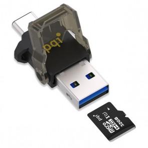 Adattatore Micro SD OTG con USB-C PQI Connect 312 Nero